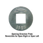 Opening Direction Plate